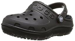 crocs Hilo Lined Clog (Toddler/Little Kid), Black/Black, 7 M US Toddler