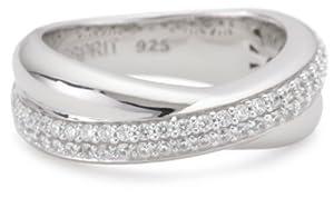 Esprit Damen-Ring purity glam silver 925 Sterlingsilber 58 Zirkonia farblos Gr. 17 ESRG91722A170