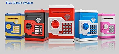 Money safe treasury vault money bank coin box for kids for Secret piggy bank