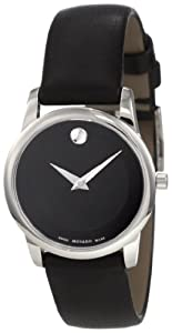 Movado Women's 0606503 Museum Stainless Steel Black Museum Dial Strap Watch from Movado
