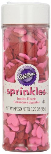 Wilton Jumbo Hearts Sprinkles, 3.25oz (Heart Baking Decorations compare prices)