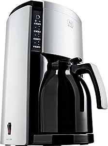 Melitta M 659-020304 Look Therm De Luxe Kaffeefiltermaschine -Aromaselector - schwarz/silber