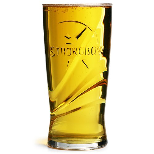Strongbow Pint Glasses CE 20oz / 568ml - Pack of 4 | Toughened Draft Cider Glasses, Arc Fully Tempered Pint Glasses