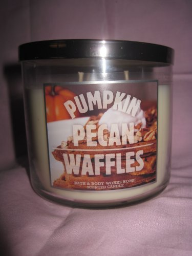 Bath & Body Works Pumpkin Pecan Waffles 14.5 oz 3 wick candle