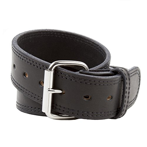 The Colossal Concealed Carry CCW Leather Gun Belt - 14 ounce - 1 3/4 inch Premium Full Grain Leather Duty Belt - Handmade in the USA! Black Size 42 (Kydex Mag Insert compare prices)