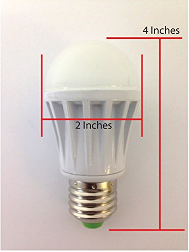 Redtag Lighting® E26 Screw Base 12 Volt Ac/Dc 4 Watt Rv Camper Marine Low Voltage Led Light Bulb, Day Light 6000K