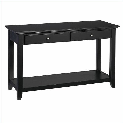 Home Styles Furniture Bedford Black Sofa Table