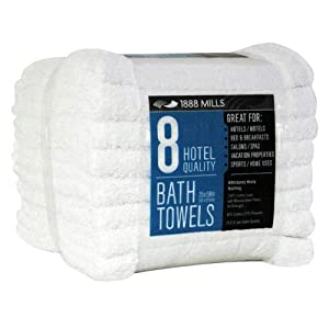 1888 Mills Bath Towels Commercial Quality - 8ct