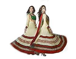 Nirali Women Georgette Dress Material (Nrmlr No 1504 _Yellow _4)
