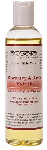Rosemary & Amla Hair Oil. Great for Dry, Frizzy Hair. Promotes Healthy Scalp and a Shiny Head of Hair. Made with Pure Ayurvedic Essential Oils and Herbal Oils. Natural Ingredients Known to Keep Hair and Scalp Problem Free. 4 Oz. New.
