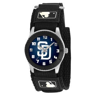 "Game Time Unisex MLB-ROB-SD ""Rookie Black"" Watch - San Diego Padres"