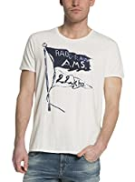 Scotch & Soda Camiseta Manga Corta (Blanco)