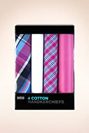 4 Pack Pure Cotton Assorted Handkerchiefs [T09-8780-S]