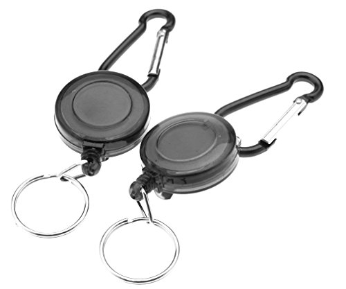 new-2-pieces-black-retractable-key-chain-badge-reel-recoil-holder-pass-id-card