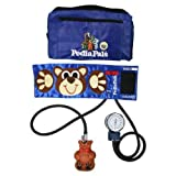 Pedia Pals Child Size Benjamin Bear Blood Pressure Kit With Carrying Case (Color: Pedia Pals Blue With Brown Bear)
