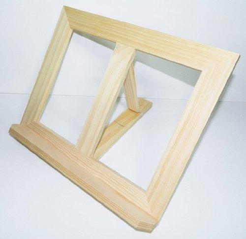 support bois lutrin Chevalet table bois livre cuisine 31,5x25cm