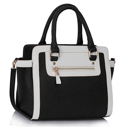 Womens Faux Leather Handbag New Ladies Shoulder