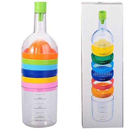 Amazing Bottle Shape 8 in 1 Multifunction Kitchen Tool Gadget Great Useful Gift