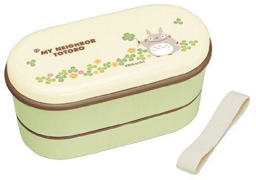 Bento: Studio Ghibli Totoro Design 2-tier Lunch Box(2 Food Containers, Chopsticks & Belt)
