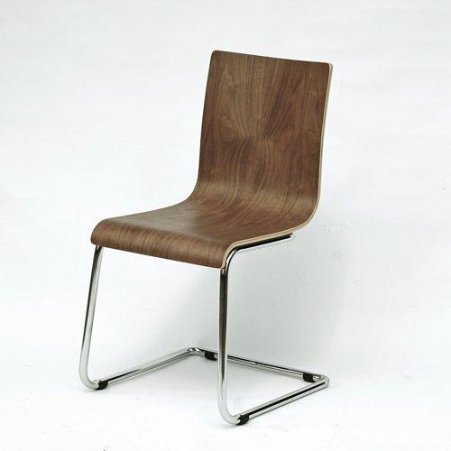 Freischwinger-Stuhl VISBY, Echtholz-Nussbaum-Furnier