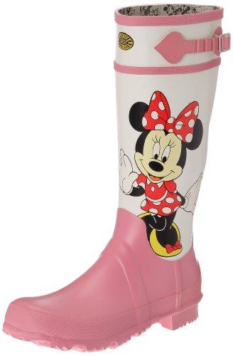 Superga, Cartoon 745-Disney Minnie RBRW, Stivali, Ragazza, Bianco (918 Minnie White Pink), 38