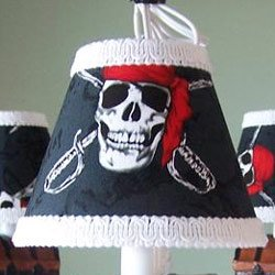 Pirate's Treasure Wall Sconce With Pirate's Code Shade