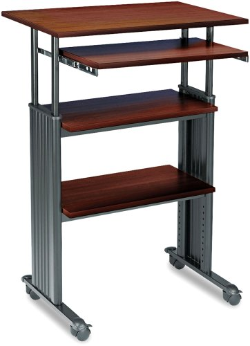 Safco Products Muv Stand-Up Adjustable Height Computer Workstation, Cherry, 1929Cy
