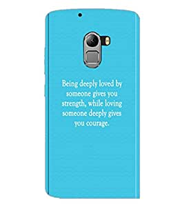 PrintDhaba Quote D-2912 Back Case Cover for LENOVO K4 NOTE A7010a48 (Multi-Coloured)