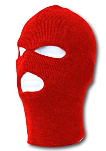 Face Ski Mask 3 Hole (More Colors)- Red