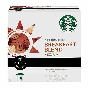 Starbucks Breakfast Blend K-Cups for Keurig Brewers, 16 Count Box (K Cups Starbucks Breakfast Blend compare prices)