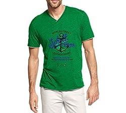 Dmovlov Men's Cotton T-Shirt (D3VN0M0G _Green_40)