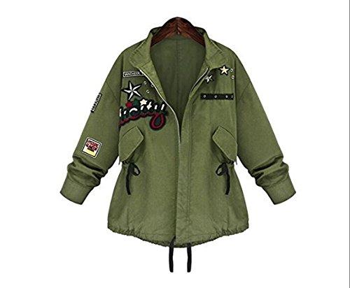 [Spring Autumn Women Bomber Jacket Tops Long Sleeve Slim Turn-Down Collar Outwear Women Basic Coat Size :] (Biker Teen Costumes)