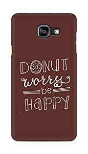 AMEZ donut dont worry be happy Back Cover For Samsung Galaxy A5 (2016 EDITION)