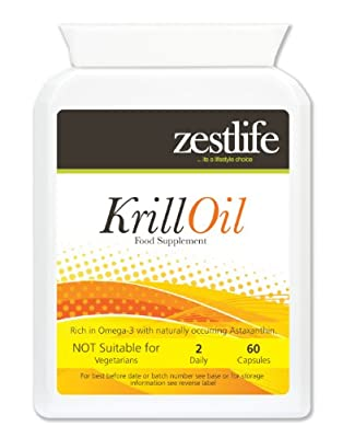 Zestlife Superba Krill Oil | SuperbaTM | Sustainably Fished by Aker BioMarine | 500mg 2 x 60 Marine Soft Gel Capsules | Premium GMP