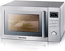 Comprar Severin 7848 - Microondas 25 Litros con Grill y Aire Caliente Acero Inox interior y Exterior