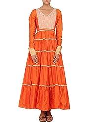 Kalki Fashion Rust Kurti Featuring In Chanderi Silk Only On Kalki Size- Large