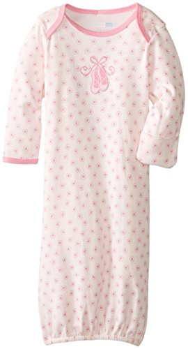 Vitamins Baby Baby-Girls Newborn Ballet Slipper Gown, Pink, One Size front-794785