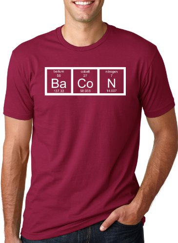 The Chemistry Of Bacon T Shirt Funny Periodic Table Tee L