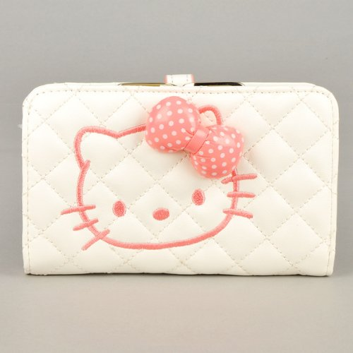 836cd9160e Hello Kitty 3 Dimensional Bowknot Wallet Card Holder Coin Purse Lovable Pink  White