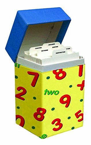 Math Skills Flash Cards with Stickers and Box
