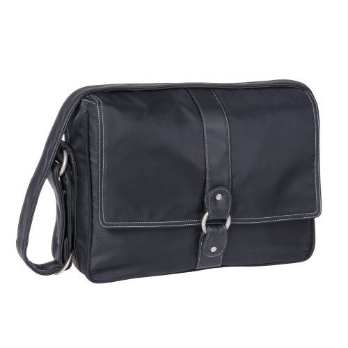 Lassig Glam Small Messenger Diaper Bag,black
