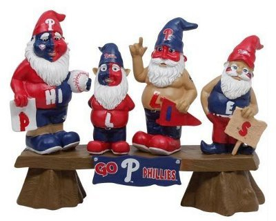 MLB Philadelphia Phillies Fan Gnome Bench