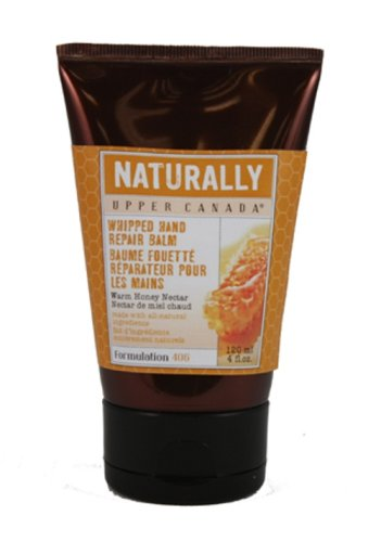 Upper Canada Soap & Candle Naturally Hand Repair Balm, Warm Honey Nectar, 4-Ounce Tubes (Pack of 3)