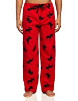 Hatley Men's Moose on Flannel Pajama Pants