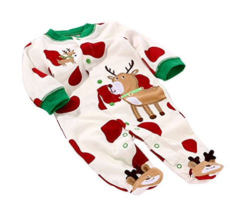 Baby Toddler Cotton Long Sleeve Jumpsuit Front Button 52(As Picture,0-3 Months)