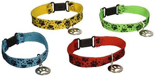 12-PUPPY-PAW-Collar-Friendship-BRACELETSKittenCATDOGPaw-Print-PARTY-FAVORSAssorted-Colors-7DOZENTOYSBirthday