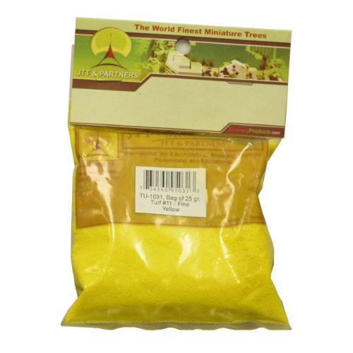 JTT Scenery Products Blossom Flowering Turf, Yellow, Fine