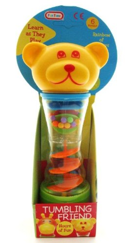1 X Tumbling Friend Teddy Bear Baby Rattle Toy 6+ Months