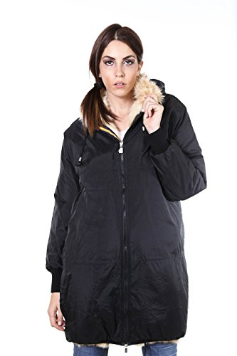 K-Way Parka Donna Remix Claudette Color Nero Tg M