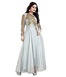 BK ENTERPRISE Women's Grey Net Attractive Gown(bk-5005_freesize)